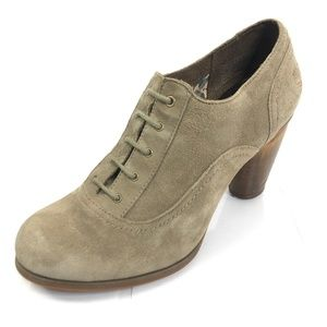 """TIMBERLAND 8.5 Booties Lace Up 3"""" Wooden Heel"""